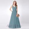 Deep- V Wedding Dress
